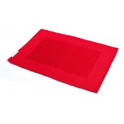 Prostírání bavlna rudý rámeček (30×45)