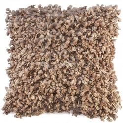Povlak na polštář Shaggy hnědá 45x45