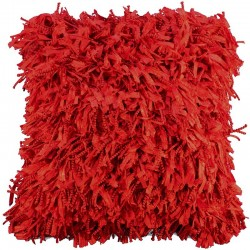Povlak na polštář Shaggy červená 45x45
