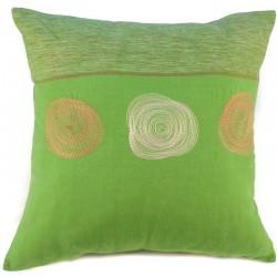 Povlak na polštář 40 x 40 cm 3 Spirály zelený