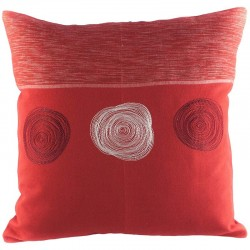 Povlak na polštář 40 x 40 cm 3 Spirály červený