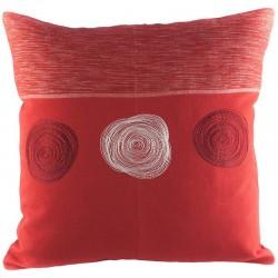 Povlak na polštář 50 x 50 cm 3 Spirály červený