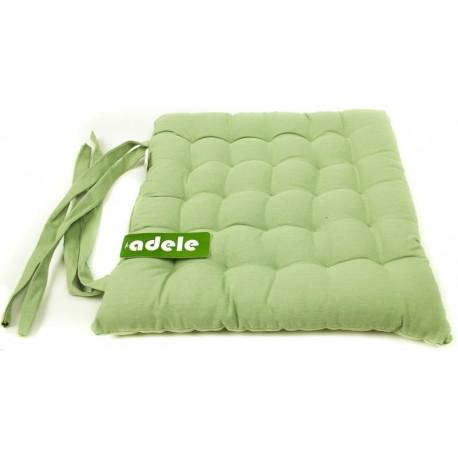 Sedák na židli dvacetpět prošití zelený