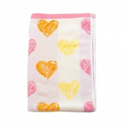Ručník srdce růžový 50 x 80 cm