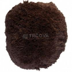 Polštář chlupatý hnědý Ø 45 cm