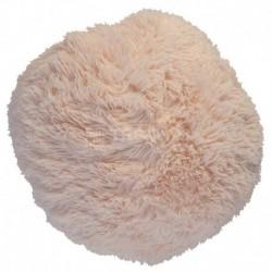 Polštář chlupatý béžový Ø 45 cm