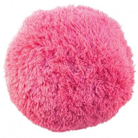 Polštář chlupatý růžový Ø 45 cm