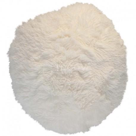 Polštář chlupatý bílý Ø 45 cm