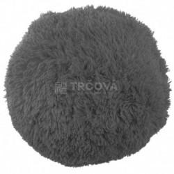 Polštář chlupatý šedý Ø 45 cm