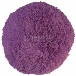 Polštář chlupatý lila Ø 70 cm