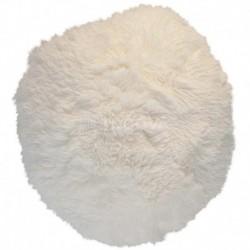 Polštář chlupatý bílý Ø 70 cm