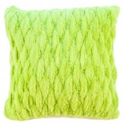 Povlak na polštář chlupatý prošívaný zelená 45 x 45 cm
