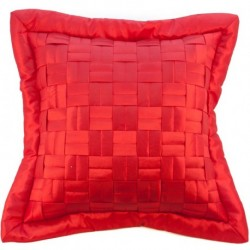 Povlak na polštář mřížka červená 45 x 45 cm