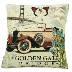 Povlak na polštářek gobelínový 45 x 45 cm - Golden Gate