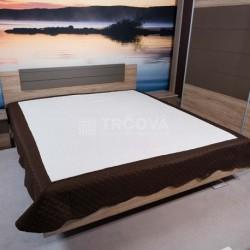 Přehoz na postel 160x220cm hnědý lem